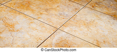 Close up of tiled floor detail