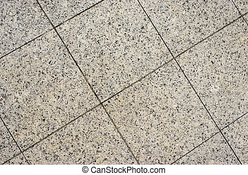 Tiled floor texture and pattern