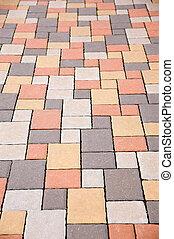 Tiled Floor - Textured Effect of tiled floor