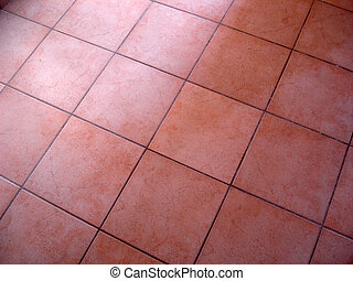Tiled Floor - Tiled red flooring