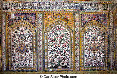 Regent\'s Mosque, Shiras, Iran - Tiled interior of Regent\'s...