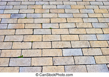 Tiled road - abstract photo of tiled pedestrian way