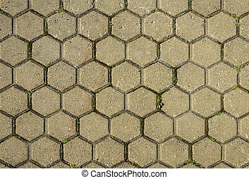 Tiled sidewalk background