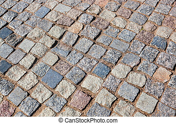 Tiled street - Tiled floor on street - architecture...