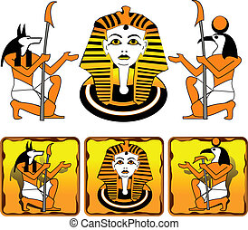 Tiles Egyptian gods - Tiles with the image of ancient...