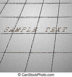 Tiles ground. Vector background