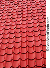 Tiles roof background - red roof