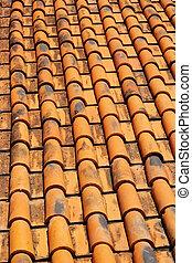 Tiles roof old background vintage