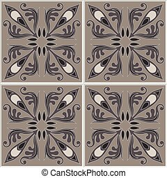 Tiles seamless pattern. Vintage background - Victorian ceramic tile in vector