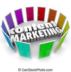 tilfredshed, gloser, markedsføring, kanaler, døre, formater, mange