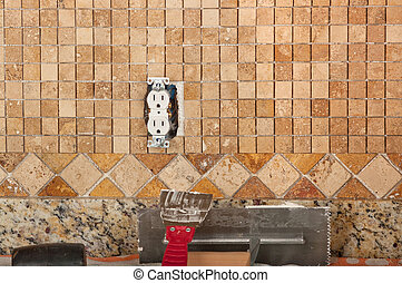 Tiling backsplash