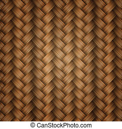 Seamless tiling wicker texture, vector