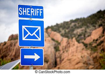 till, sheriff, kontor