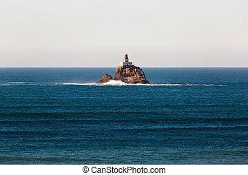 Tillamook Rock Lighthouse on a Calm Day