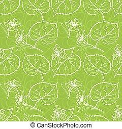 tilleul, seamless, feuilles