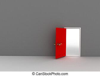 tillfälle, begrepp, dörr