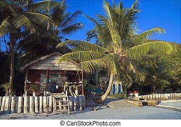 tillflykt, tropisk ö