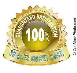 tillfredsställelse, 100, garanti