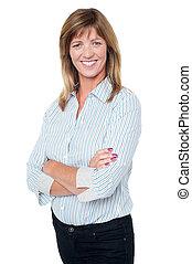 tillidsfuld, henkastet, businesswoman