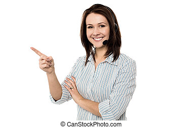 tillitsfull, le, kvinnlig, telecaller