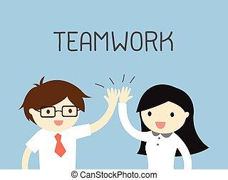 tillsammans., arbete