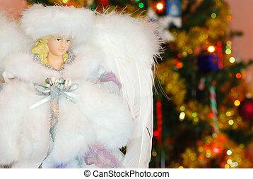 tillsluta, ängel, jul