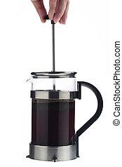 tillsluta, av, a, kaffebryggare