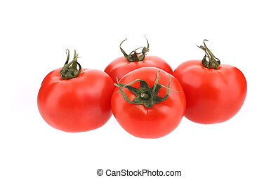 tillsluta, av, frisk, tomatoes.
