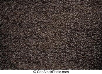 tillsluta, av, mörk, brun, läder, struktur, bakgrund