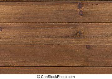 tillsluta, av, vägg, gjord, av, trä plankor, topp, utsikt.