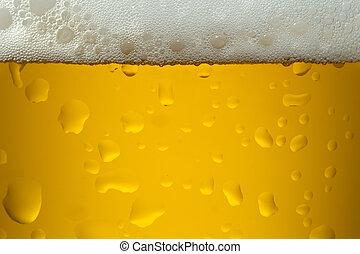 tillsluta, avbild, av, a, öl