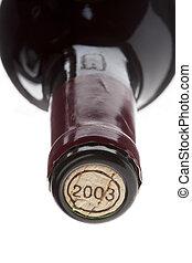 tillsluta, avbild, av, a, vin buteljera