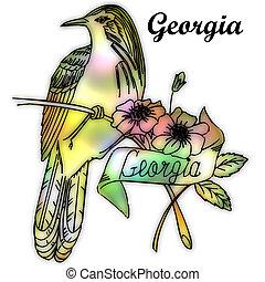 tillstånd, georgia, fågel
