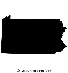 tillstånd, pennsylvania karta, u.s.