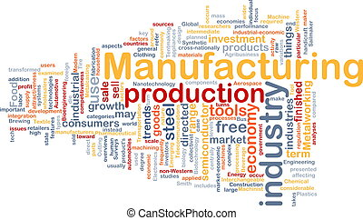 tillverkning, bakgrund, begrepp