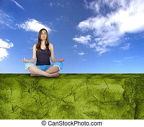 tillverkning, yoga