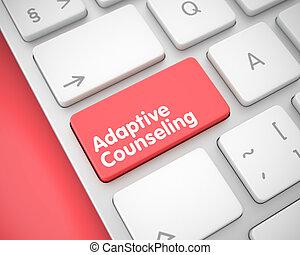 tilpasset, counseling, -, meddelelse, på, den, rød, klaviatur, key., 3d.