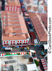Tilt Shift Chinatown - A detail of Chinatown with a til...