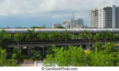 Tilt Shift Miami Fl transit time lapse