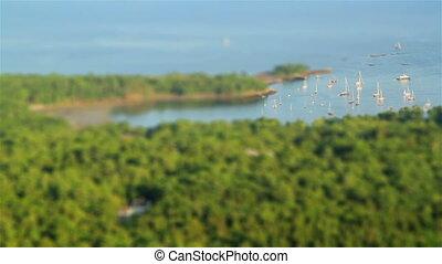 Tilt Shift Sail Boats Maine USA