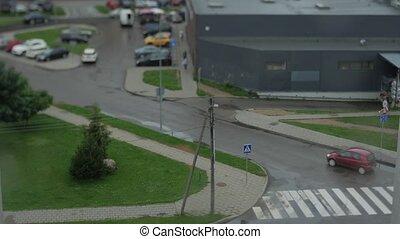 Tilt Shift Time Lapse Effect City Traffic.