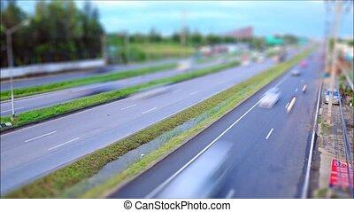Tilt-Shift,Traffic on the road