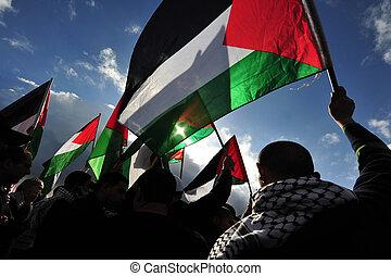 tiltakozás, activists, palesztin