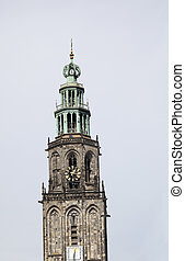 Tilted Martinitower in Groningen - The Martinitower in...