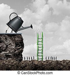 tilvækst, og, held, strategi