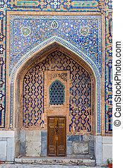 Tilya-Kori Madrasah detail, Registan, Samarkand