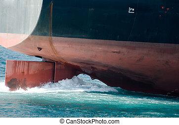timón, barco