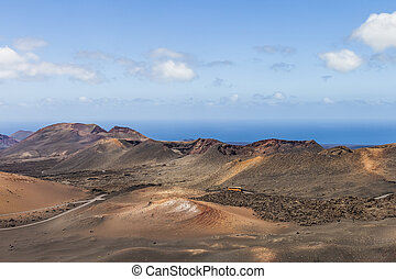 Timanfaya Volcanoe National Park in Lanzarote,  Spain