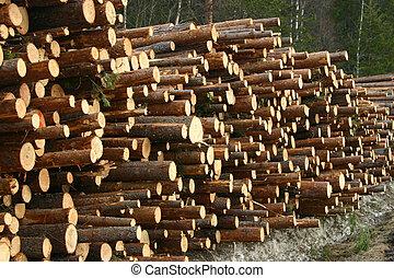 Timber - A stock of timber