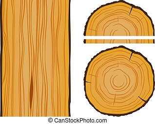 Timber and wood texture with elements. Editable vector...